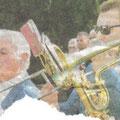 Inauguration du stade Fondary à Saint-Florine en 2004. Article de journal déchiré, je m'excuse pour la mauvaise qualité.