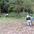 写真3 堆肥場へ搬出