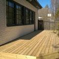 New terrace next to the living area, facing garden