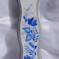 Jewish mezuzah Case,Blue Flowers, Gzhel style
