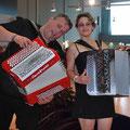 Karine et l'accordéoniste compositeur Bruno Pignalet