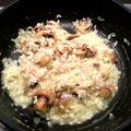 Pilze und Parmesan unterheben.