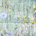 Monochrom mit Pusteblume