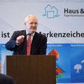 """Egon Jüttner beim """"Tag des Eigentums"""" von Haus & Grund Mannheim am 15. März 2014. Bilder (c) Klaus Hecke"""