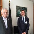 Egon Jüttner mit dem Mannheimer Wirtschaftsjunior Wolfram Schuster