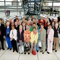 50 Mannheimerinnen und Mannheimer auf der Kuppel des Deutschen Bundestages