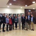 Egon Jüttner mit Abgeordneten der Knesseth