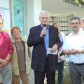 Egon Jüttner bei der Eröffnung des Freibads Sandhofen