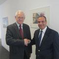 Egon Jüttner zusammen mit dem ägyptischen Botschafter, S.E. Dr. Badr Abdelatty, bei dessen Antrittsbesuch