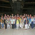 Egon Jüttner mit 50 Mannheimerinnen und Mannheimern auf der Kuppel des Reichstagsgebäudes