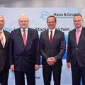 Egon Jüttner mit dem geschäftsführenden Vorstand von Haus & Grund Mannheim