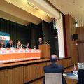 Egon Jüttner bei seiner Rede auf dem Nominierungsparteitag für die Gemeinderatswahl 2014