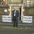 Egon Jüttner als OSZE-Wahlbeobschter in London