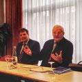 """Egon Jüttner zusammen mit Stefan Busch bei seiner Veranstaltung """"Bericht aus Berlin"""" im Steubenhof Hotel in Neckarau"""
