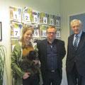 mit Jørn Are Gaski und einer Journalistin der Sami-Zeitung