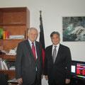 Egon Jüttner mit dem Botschafter von Honduras, Romón Custodio