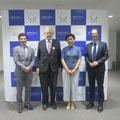 mit Prof. Naruskiga, Prof. Iwama und dem Vertreter der Deutschen Botschaft