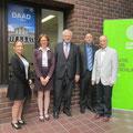…mit Legationsrätin Andrea Finken von der Deutschen Botschaft und Dorothea Mahnke vom DAAD sowie Matthias von Gehlen vom Goethe-Institut und Josef Bohaczek von der OAG