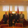 Gespräch mit Prof. Kȩstutis Masiulis und einem Abgeordnetenkollegen sowie dem Geschäftsträger und Botschaftsrat Morgenstern von der Deutschen Botschaft