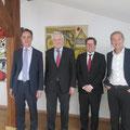 Gespräch mit Arne Schneider sowie Mihaels Hauke vom Goethe-Institut und Christoph Klarmann von der Deutschen Botschaft in Riga