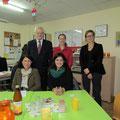 Egon Jüttner beim Besuch des Internationalen Frauentreffs