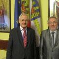 Egon Jüttner mit Prof. Dr. Nistor Grozavu, dem Stellvertreter des Oberbürgermeisters von Chisinau