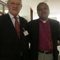 Egon Jüttner mit Bischof Humphrey Sarfaraz in Pakistan