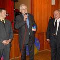 Egon Jüttner mit Marcel Schmit und Otto Kärchner beim 50-jährigen Jubiläum des Drum & Bugle Corps The Golden Lions 1964 e.V.