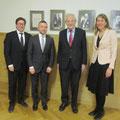 Gespräch mit Dr. Maris Andžãns vom Latvian Institute of International Affairs und Geschäftsträgerin Manja Kliese von der Deutschen Botschaft Riga