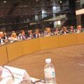 Egon Jüttner in Paris bei dem Treffen des Auswärtigen Ausschusses des Deutschen Bundestags und dem Auswärtigen Ausschuss der franzöischen Nationalversammlung