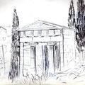 Trésor des Athéniens à Delphes - Graphite