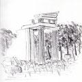Hestiatorion à Epidaure - Graphite