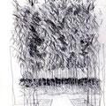 Bruissement du vent dans les bambous - Jardin Albert Kahn  - Graphite
