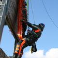Tragenverstellung vertikal / horizontal und verstellbarer Retter