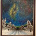 フレスコ画20号「北の大地と満天の星」