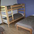 Chambre N°3 - 4 personnes - 2 lits simples et 2 lits superposés
