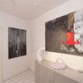 Bilder, Skulpturen und Lichtobjekt in den Ausstellungsräumen der Kunstagentur Bild & Raum