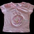 Maglietta su commissione personalizzata con il nome della piccola appena nata!