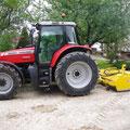 Balayeuse Ramasseuse monté sur tracteur agricole
