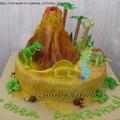 Торт с динозаврами, 3,5 кг