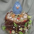 Гнездо, 2 кг, в птенце - шоколадное яйцо