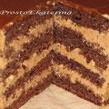 Шоколадный бисквит, нежный шоколадный крем, пропитка - пломбир