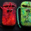 スマートフォンケース-赤・緑