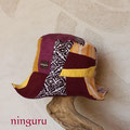 紫×黄色のクロッシェ