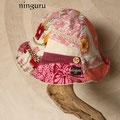 やさしいピンクの 女の子らしいチューリップハット
