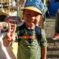 シャッキーン(朝の子ども番組)の帽子みたい!って喜んでかぶってもらいました!