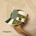 緑のコントラストと刺繍の美しさが決め手!