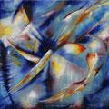 """""""Mit dem Wind"""" - Öl auf Leinwand 110 x 140 cm, 2008"""