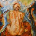 """""""Am Abgrund - schöne Aussichten"""" - Öl auf Leinwand 120 x 100, 2008 cm"""