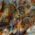 """Jazztresor"" - Öl auf Leinwand 130 x 200 cm (zweiteilig), 2008"